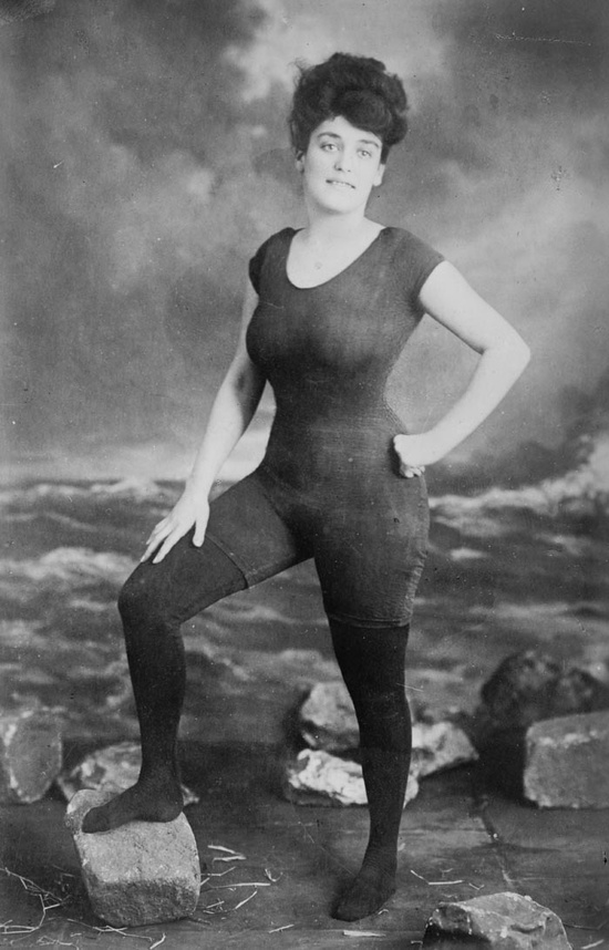For book: Woman arrested for one piece bathing suit 1927